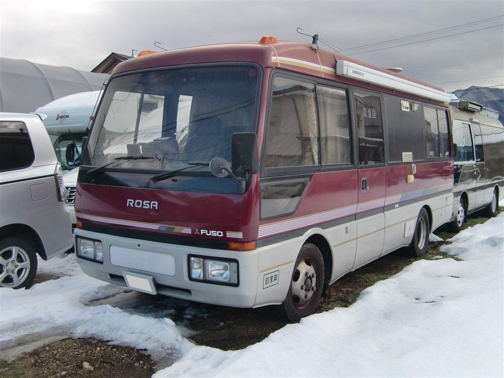 バス キャンピング車  三菱ローザ 希少4速オートマチック車 フル装備