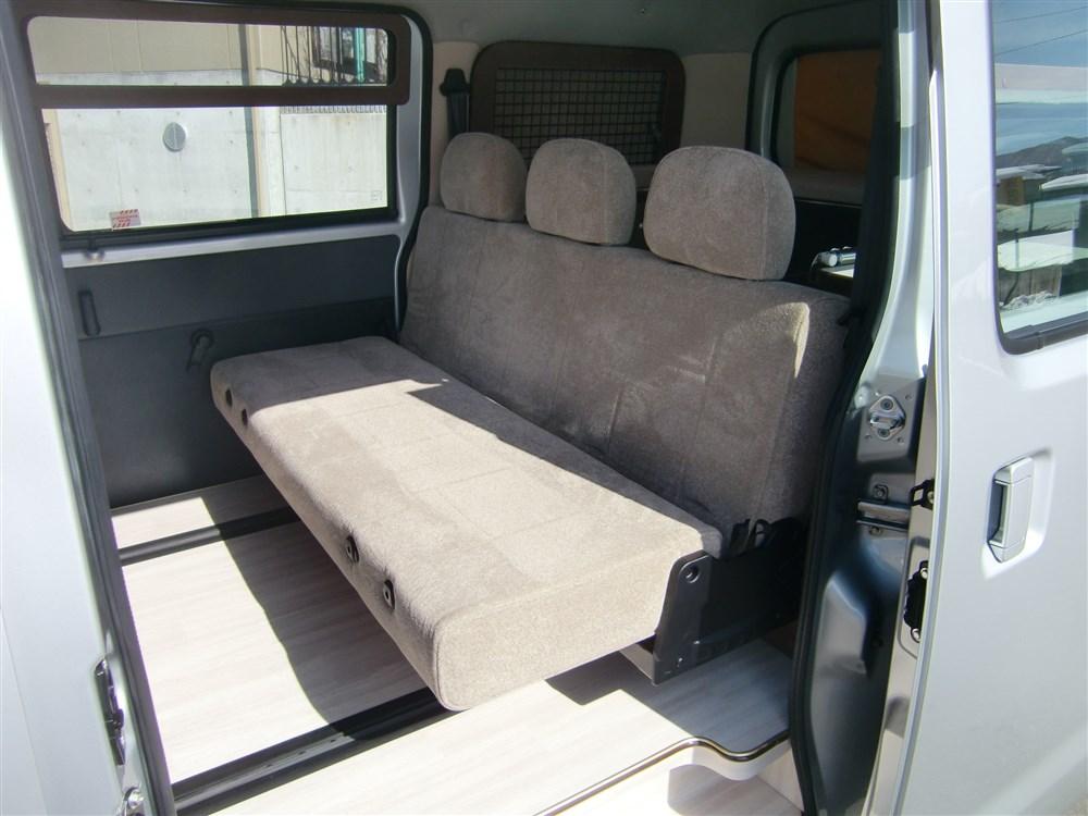 新設定:3人掛けバタフライシート&リヤ拡張ボックス(2段ベット)仕様